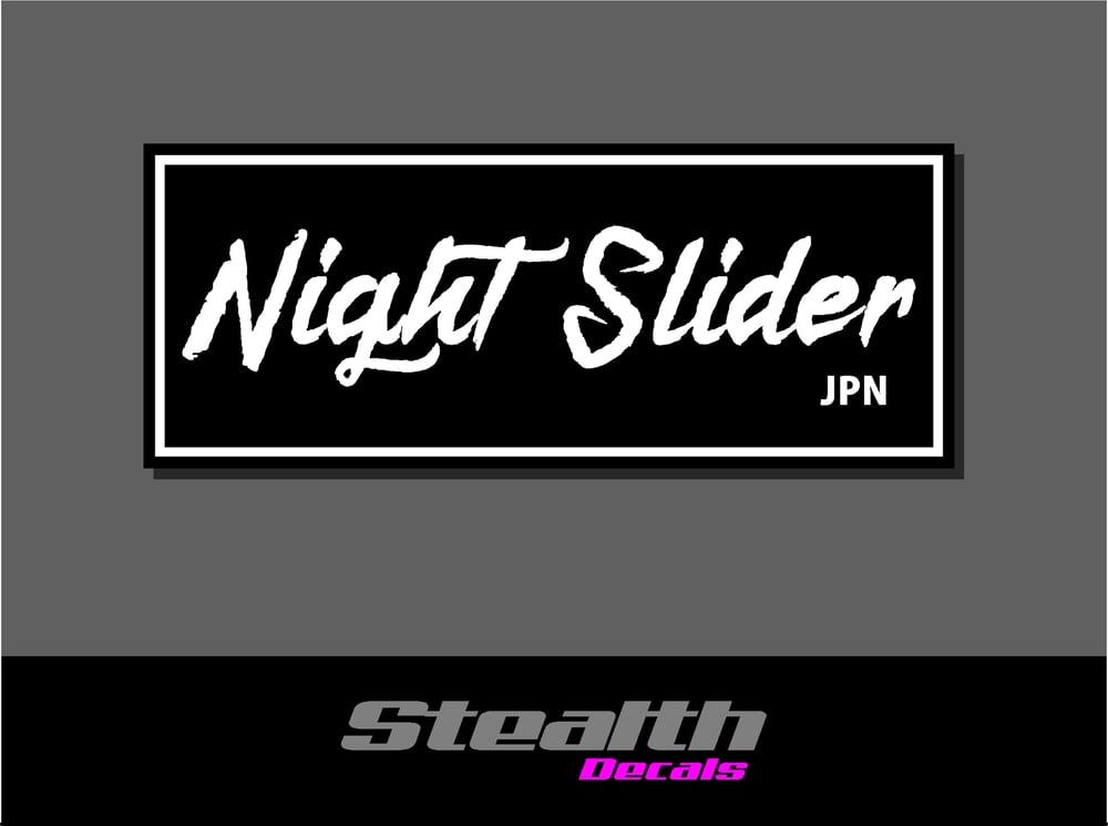 Image of Night Slider Drift Slap Sticker