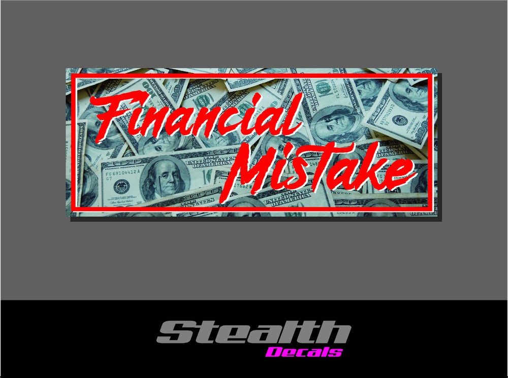 Image of Financial Mistake Drift Slap sticker