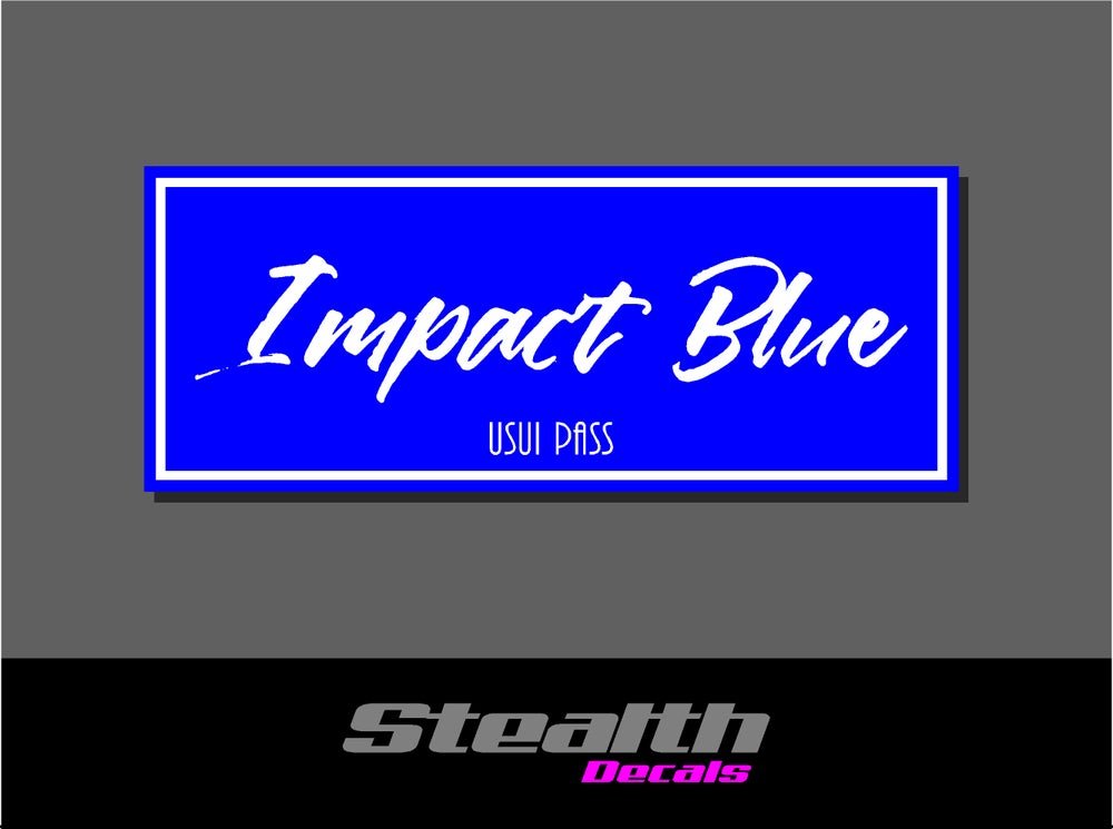 Image of Impact Blue Drift Slap sticker Initial D