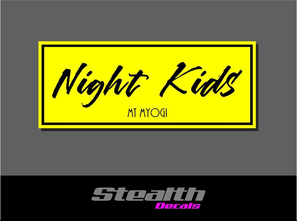 Image of Night Kids Drift Slap sticker Initial D