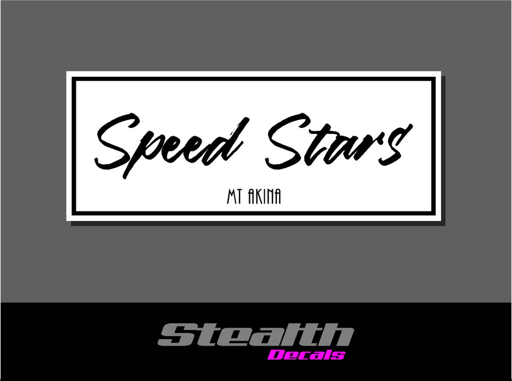 Image of Speed Stars Drift Slap sticker Initial D
