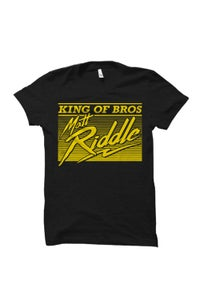Image of Matt Riddle 'KING OF BROS' T-Shirt (Yellow Version)