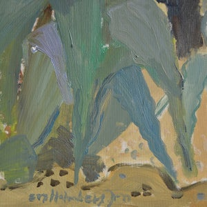 Image of 1950, Oil Painting  'Meditteranean 2' Eva Holmberg Jacobsson