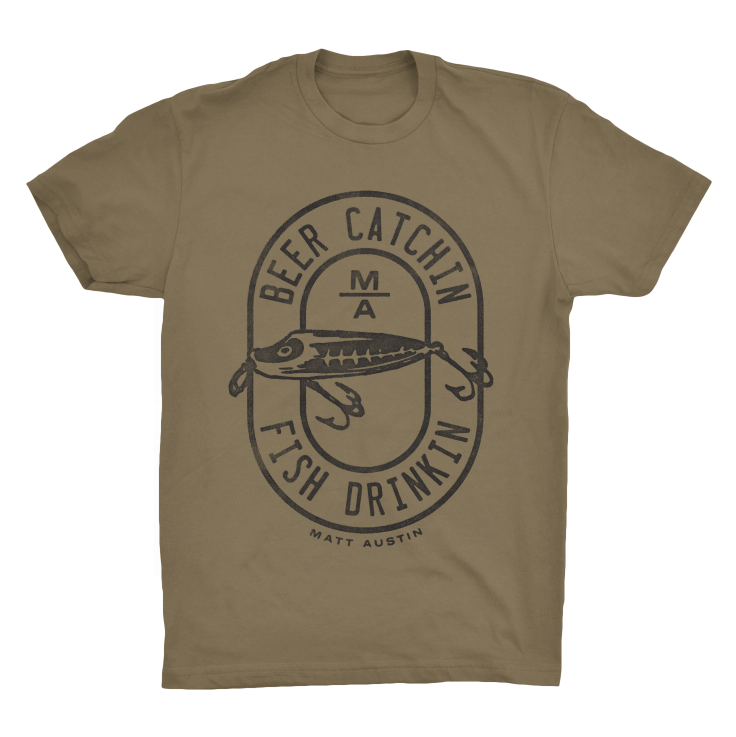 Image of Army Green Beer Catchin' Shirt