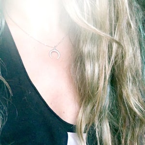 Image of Crescent Necklace - Gold / Silver Plated - 3 different lengths available