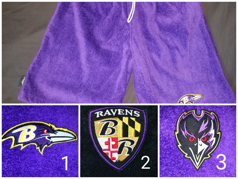 Image of Baltimore Ravens Themed Towel Shorts