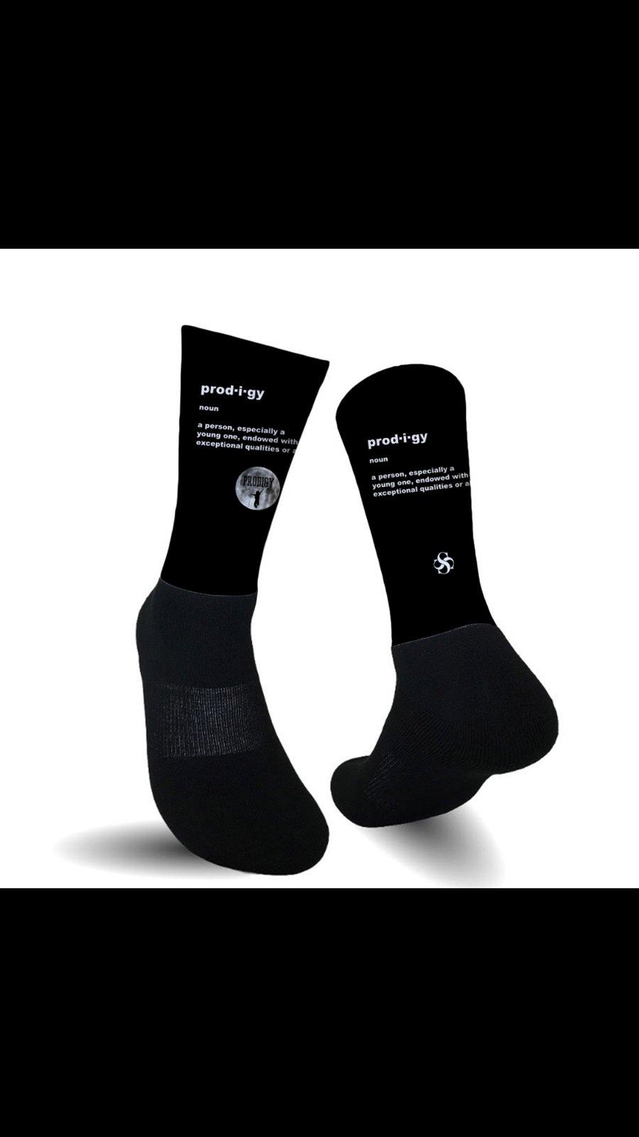 Prodigy Definition Socks Black with Logo