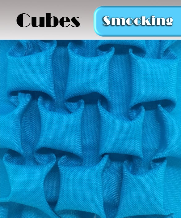 Image of PDF - Heirloom Smocking Pattern - 09 - Cubes