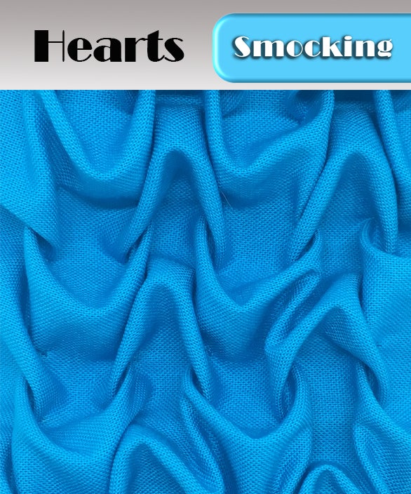 Image of PDF - Heirloom Smocking Pattern - 10 - Hearts