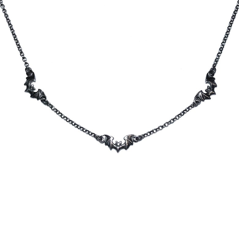 Image of Dusk necklace in oxidized sterling silver