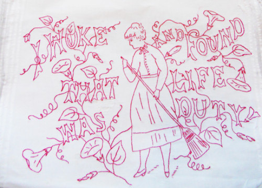 Image of PDF - Embroidery Pattern - Vintage - I Woke and Found That Life Was Duty