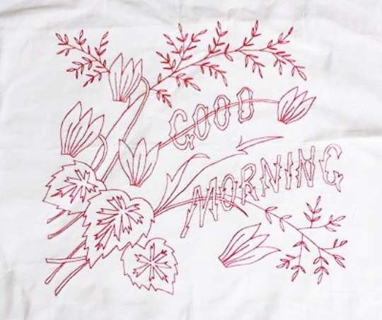 Image of PDF - Embroidery Pattern - Vintage - Good Morning