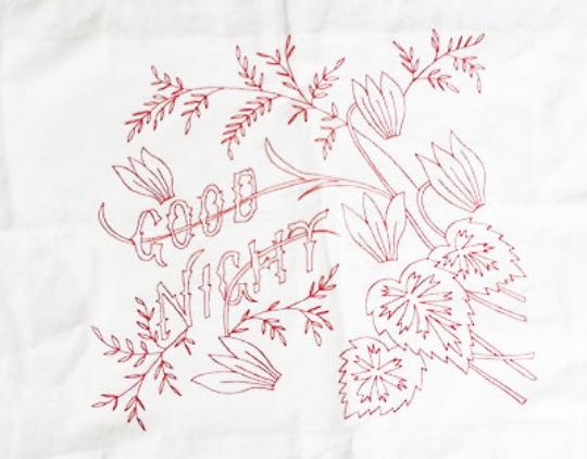 PDF - Embroidery Pattern - Vintage - Good Night