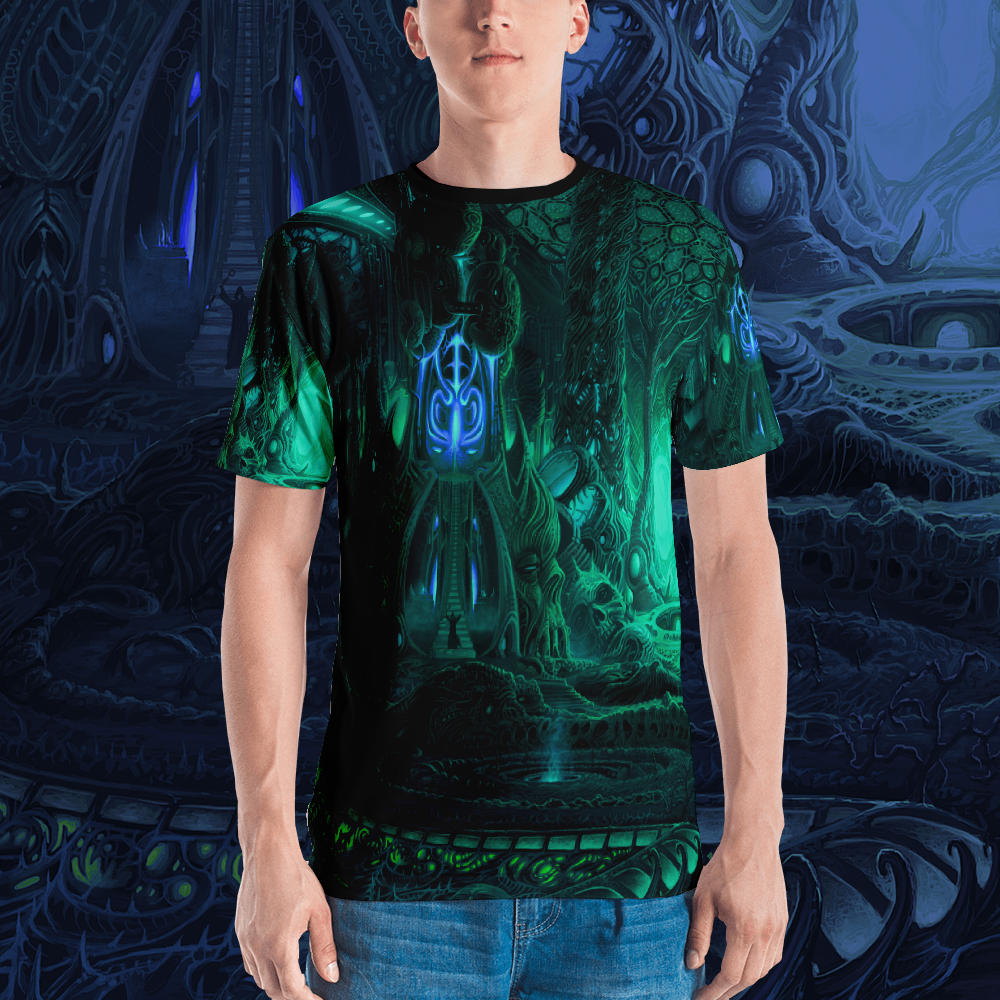 Image of Temple of Horrors all over print shirt by Mark Cooper Art