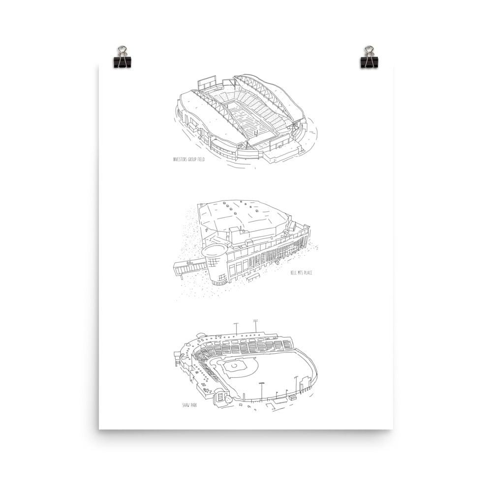 "Image of Stadium Series 18"" x 24"" Print"