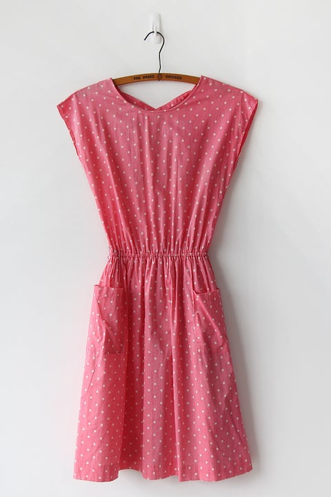 Image of SOLD Bubblegum Polka Dot Dress