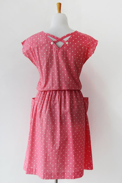 Image of SOLD Bubblegum Polka Dot Dress