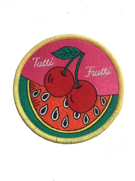 Image of **NEW** Tutti Frutti Iron on Patch