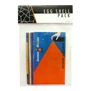 Image of Cap Matches Color Blank Eggshell Sticker Packs