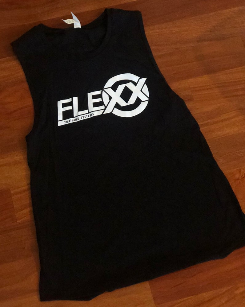 Image of Black/White Women's Jersey Muscle Tank