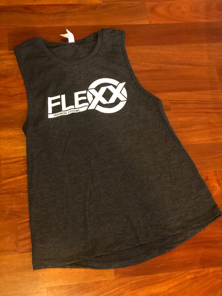 Image of Grey/White Women's Jersey Muscle Tank
