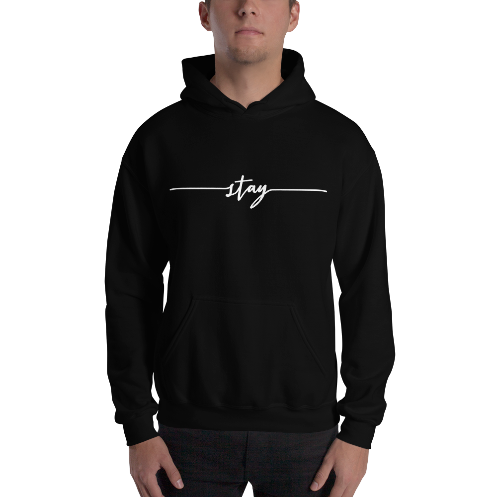 Image of Unisex Stay Hoodie - Black