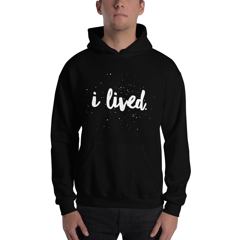 Image of Unisex I Lived Hoodie - Black