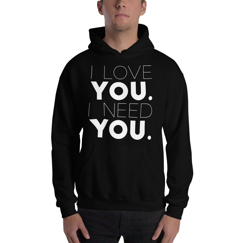 Image of Unisex Love You Need You Hoodie - Black