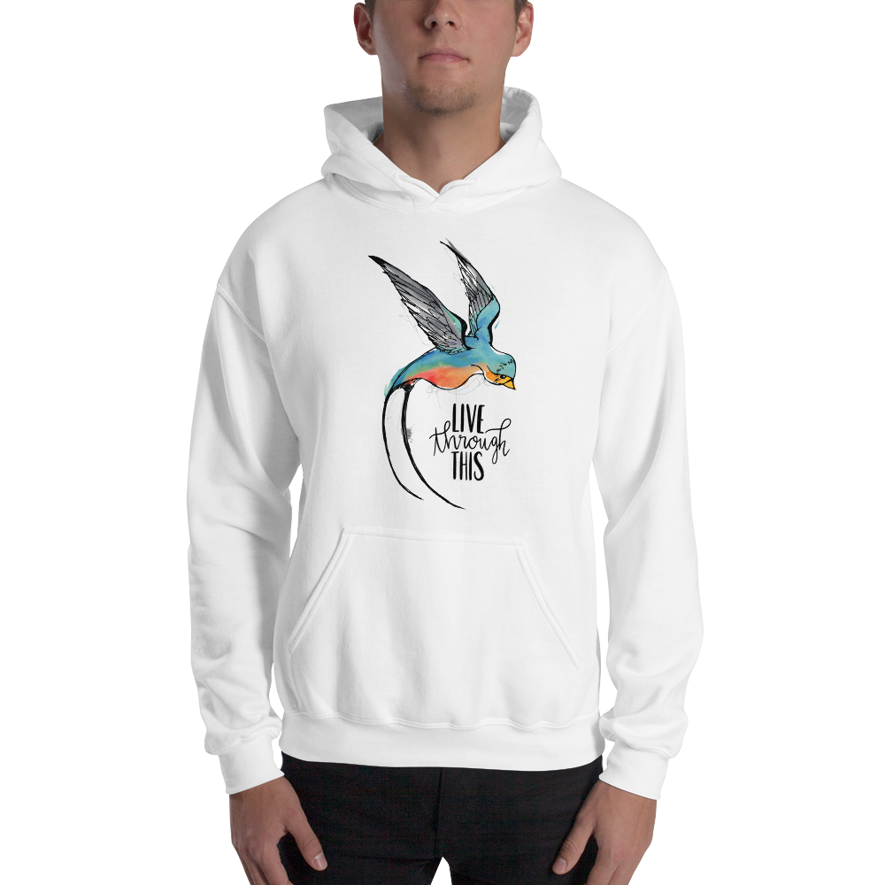 Image of Unisex Freestyle Logo Hoodie - White