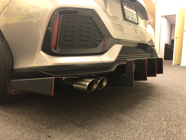 "Image of 2016+ Honda Civic (10th Gen) V2 ""NON SPORT"" diffuser"