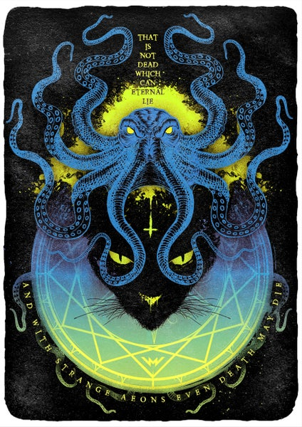 Image of LOVECRAFT ART PRINT A3 | SIGNED, NUMBERED LTD ED. OF 100