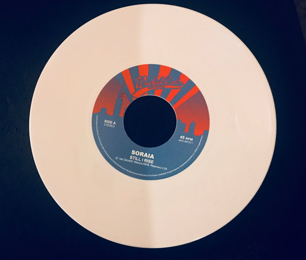 "Image of Still I Rise w/Trash 7"" single on limited edition white vinyl"