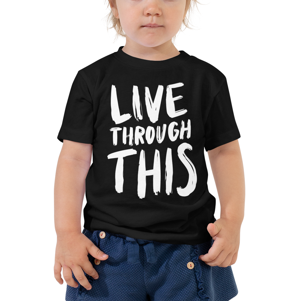 Image of Unisex Kids Brushstroke Tee - Black