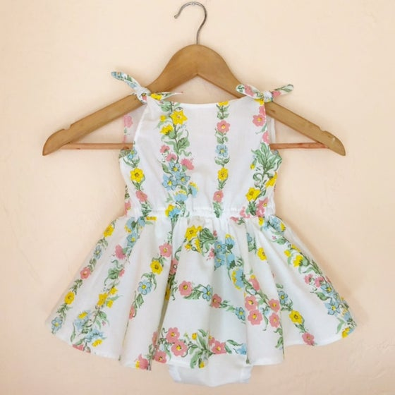 Image of MTO Floral Vines Picnic Dress or Romper
