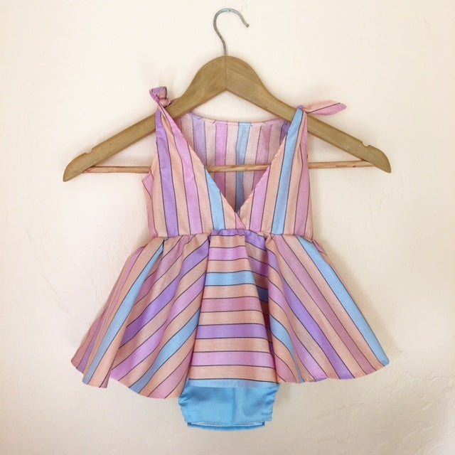 Image of RTS Sunset Stripe Picnic Dress