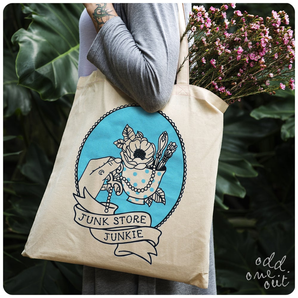 Image of Junk Store Junkie - Tote Bag