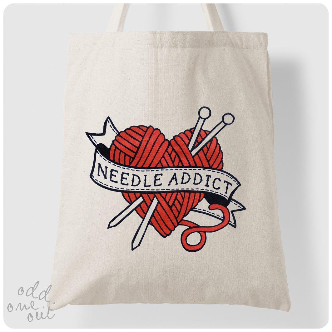 Image of Needle Addict - Tote Bag