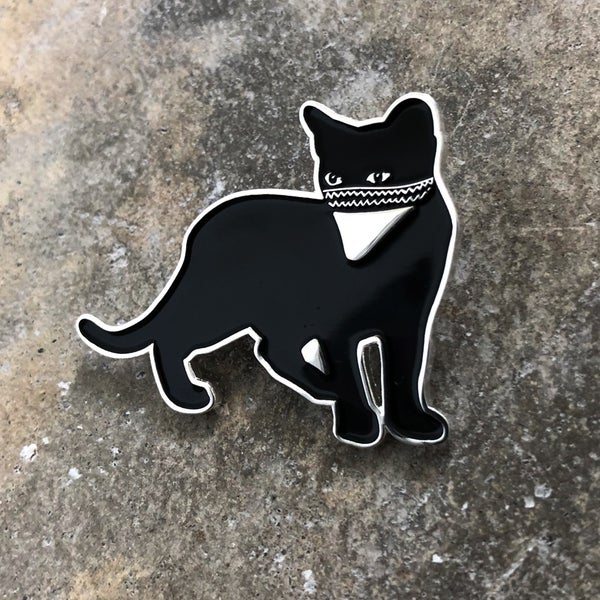 Image of Bandit Cat pin - Albert Reyes