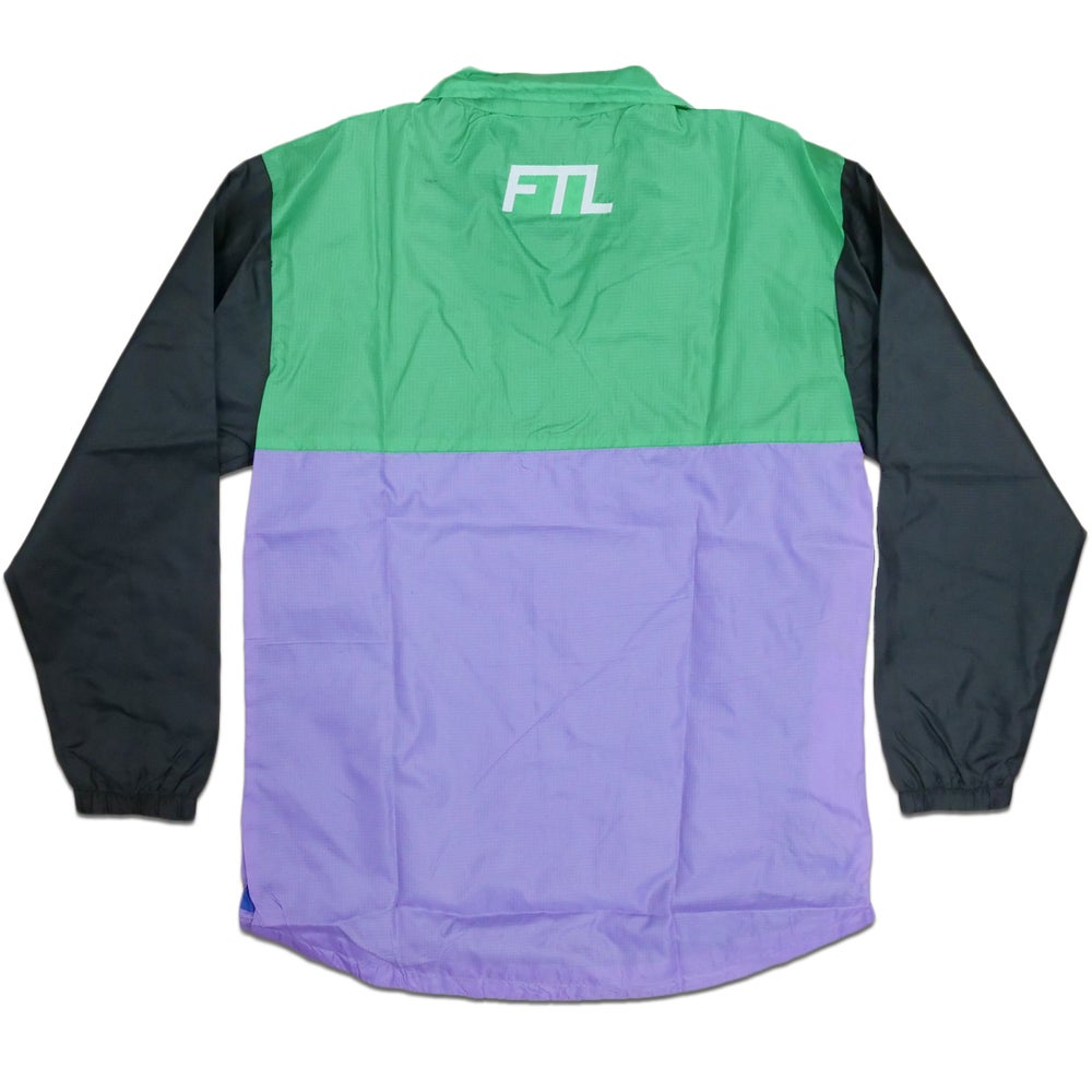 Image of Color Block Quarter Zip Jacket (Mint)