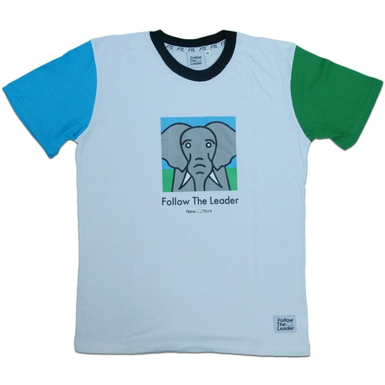 Image of Elephant Color Block Tee (White)