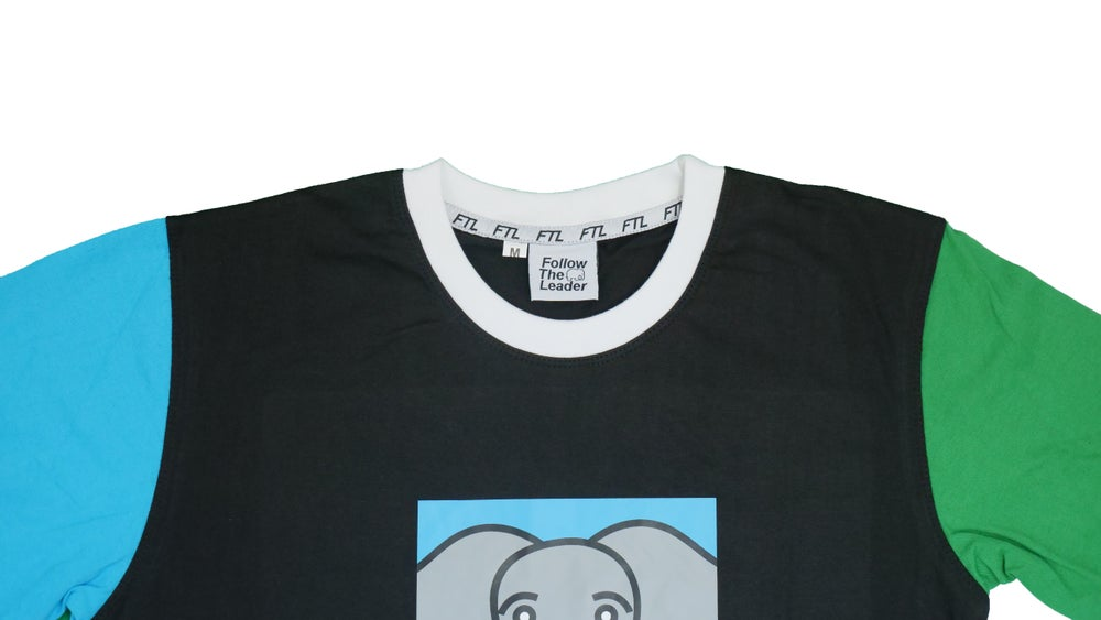 Image of Elephant Color Block Tee (Black)