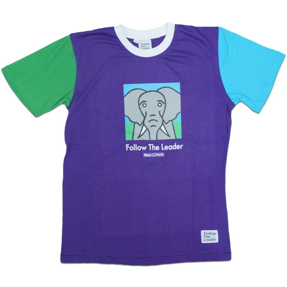 Image of Elephant Color Block Tee (Purple)