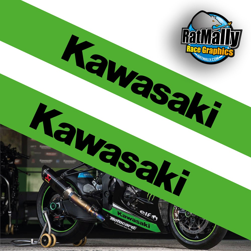 Image of Wrap banner WSBK style - Kawasaki