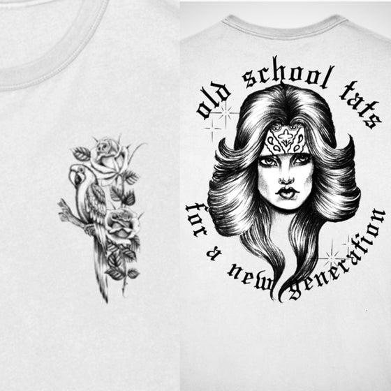 Image of Chuco's Chola white unisex Tees