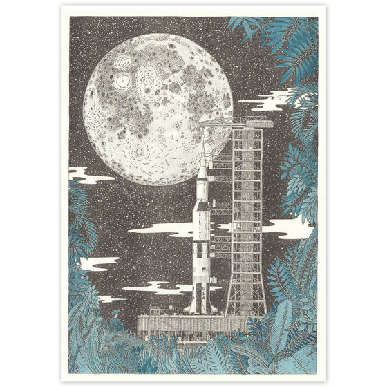Image of Apollo 11 Riso Print