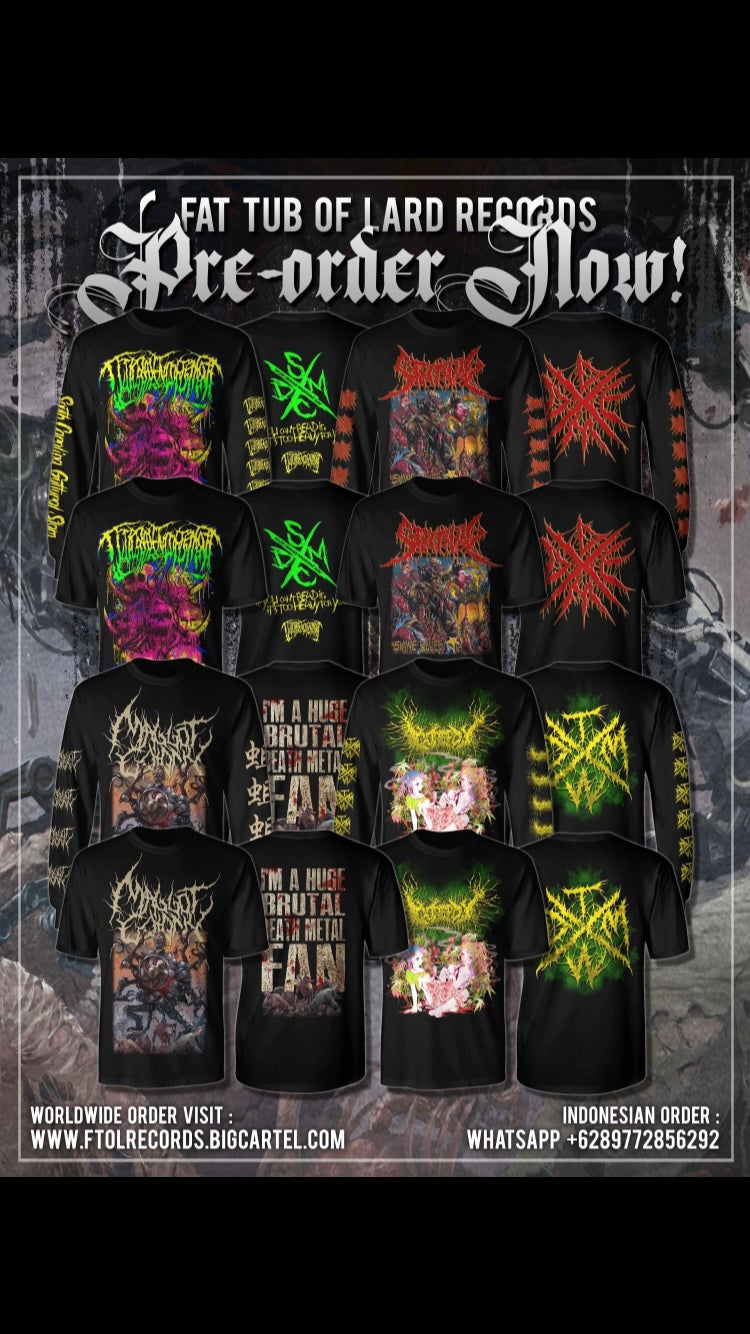 Image of Guttural Engorgement/Splitwig/Maggot Colony/Gorepot shirts!