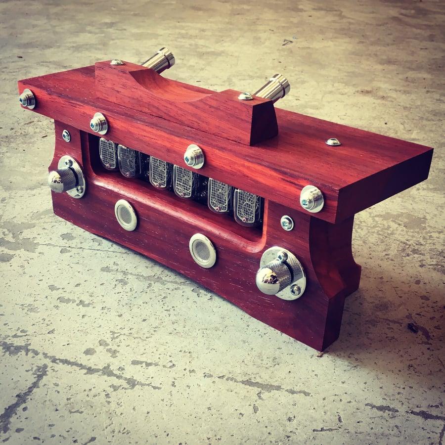Image of Nixie Tube Clock MKII - Bloodwood & Chrome