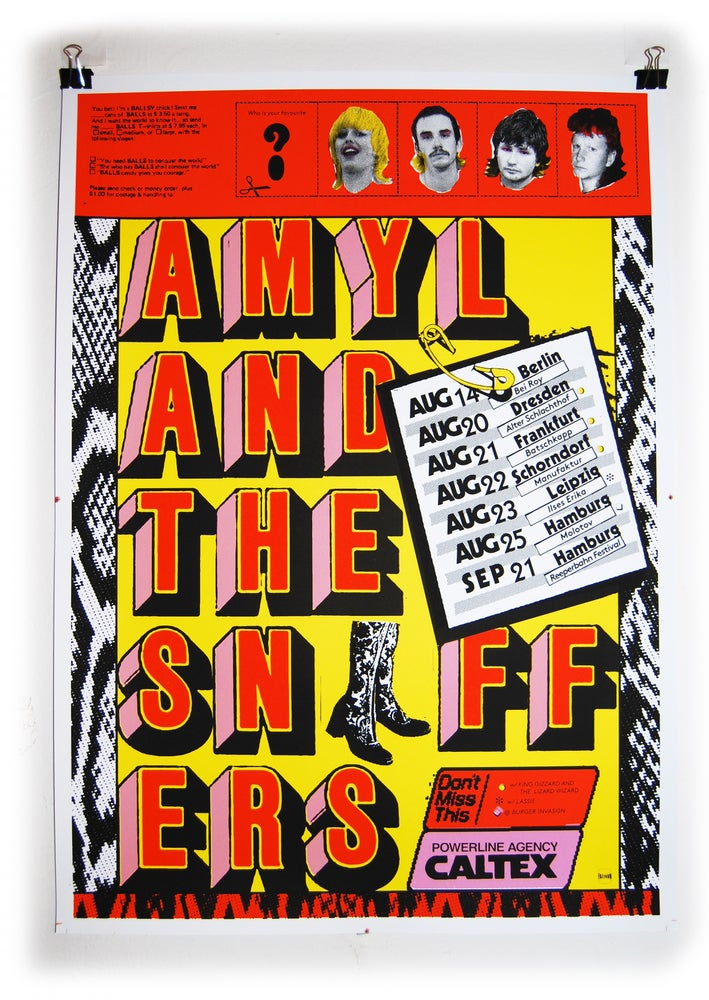 Image of AMYL & THE SNIFFERS SCREENPRINT
