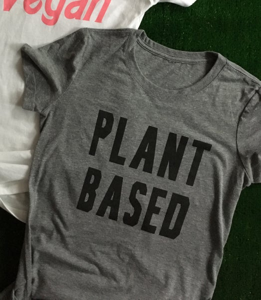 Image of Plant Based t-shirt unisex and ladies fitted