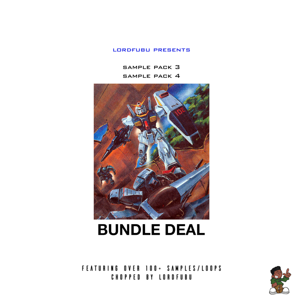 Image of LORDFUBU SAMPLE PACK: 3 & 4 BUNDLE DEAL
